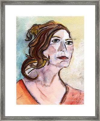 Look Ahead Framed Print by Elizabeth Briggs