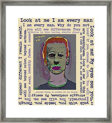 Look At Me Framed Print by Noredin Morgan
