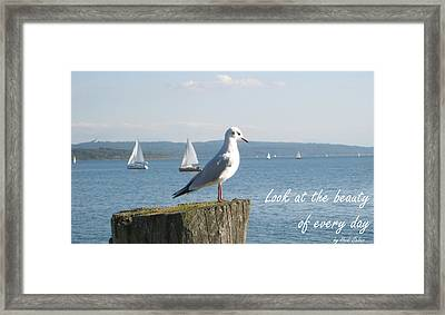 Look At The Beauty Of Every Day Framed Print