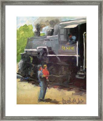Look At The Train Framed Print