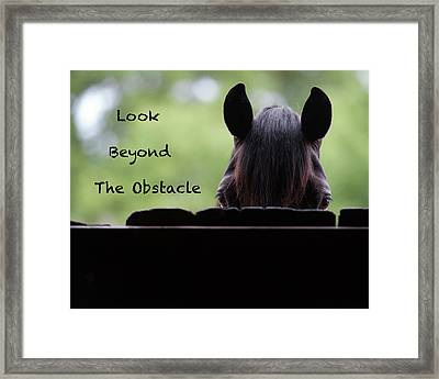 Look Beyond The Obstacle Framed Print