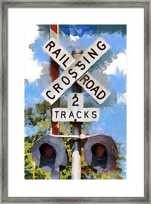 Look Both Ways Framed Print by Lynne Jenkins
