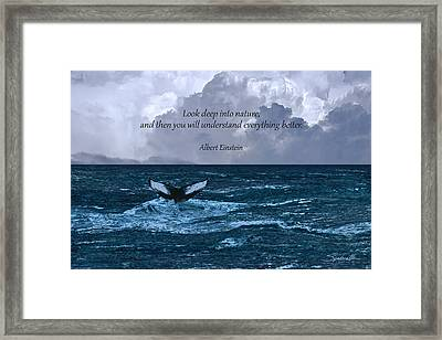 Look Deep Into Nature Poster Framed Print by IM Spadecaller