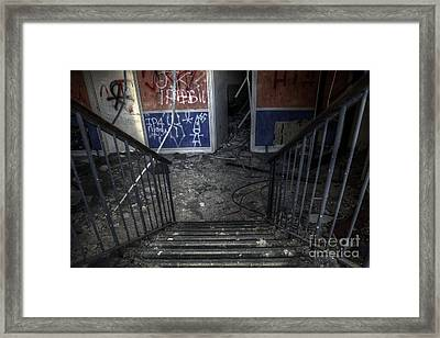 Look Down Framed Print