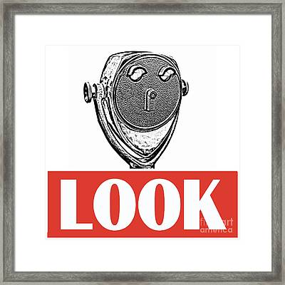 Look Framed Print by Edward Fielding