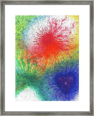 Look For The Rainbow When It Rains #441 Framed Print