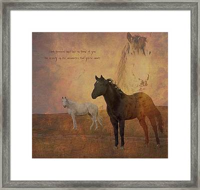 Look Forward Framed Print
