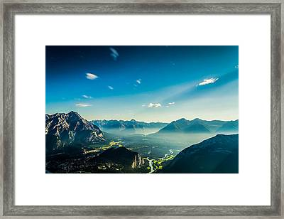 Look From The Top Framed Print