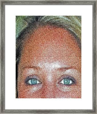 Look Into My Eyes And I Will Tell You No Lies. Framed Print by Jorge Gaete
