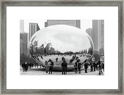 Look Into The Eye Framed Print