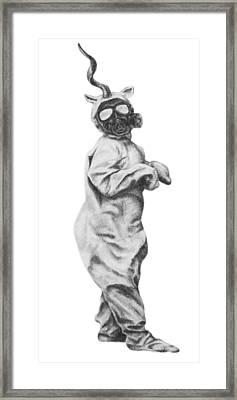 Look Mom I Am A Unicorn Framed Print by Phil Spaulding