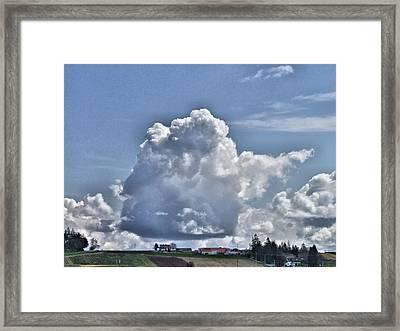 Look Overhead Framed Print