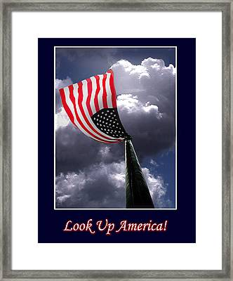 Look Up America Framed Print by Richard Gordon
