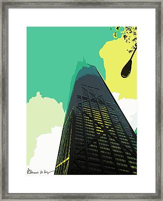 Look Up Chicago Framed Print by Russ Harris