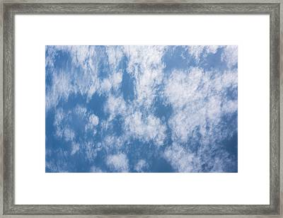 Look Up Not Down Clouds Framed Print by Terry DeLuco