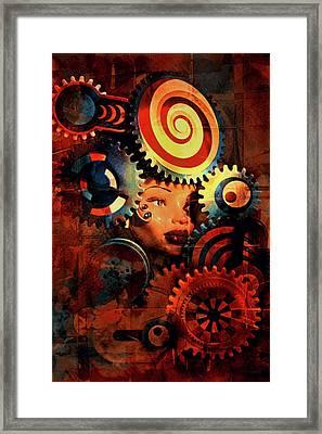 Looker Framed Print