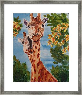 Framed Print featuring the painting Lookin Back by Karen Ilari
