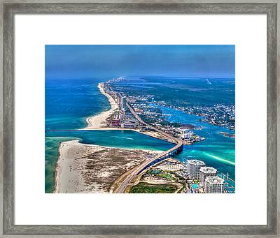 Looking West Across Perdio Pass Framed Print