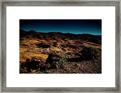 Looking Across The Hills Framed Print
