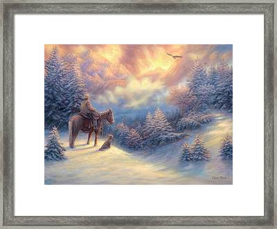 Looking Ahead Framed Print by Chuck Pinson