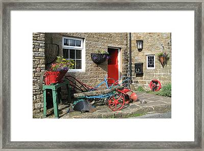 Looking At A Old Stone House Framed Print by Joyce Woodhouse