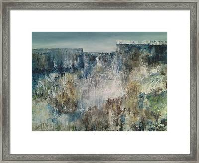 Looking At The Horizon Framed Print