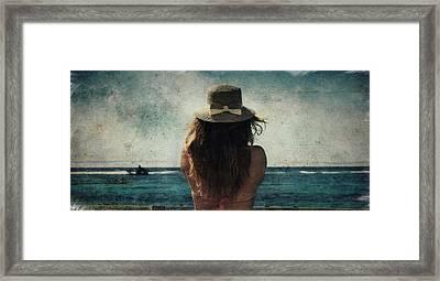 Looking At The Horizon Framed Print
