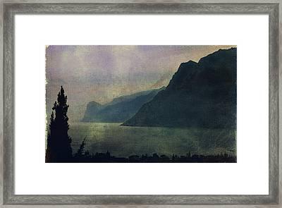 Looking At The Lake... Framed Print