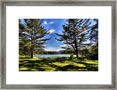 Looking At The Moose River Framed Print by David Patterson