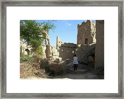 Looking At The Old Ruins Framed Print by Sunaina Serna Ahluwalia