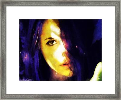 Framed Print featuring the digital art Looking At The World With One Eye Is Enough by Gun Legler