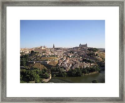 Looking At Toledo Framed Print