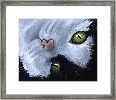 Framed Print featuring the painting Looking At You by Anastasiya Malakhova