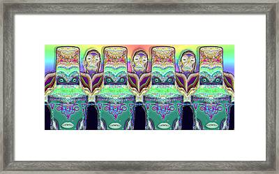 Framed Print featuring the digital art Looking At You by Ron Bissett
