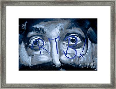 Framed Print featuring the painting Looking At You by Yurix Sardinelly