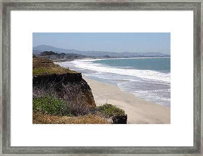 Looking Back At Half Moon Bay From The North Framed Print by Carolyn Donnell