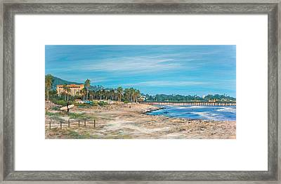 Looking Back At Surfers Point Framed Print by Tina Obrien