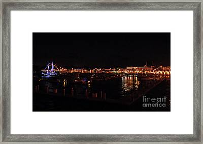Looking Back At The Night Of Lights Framed Print by D Hackett