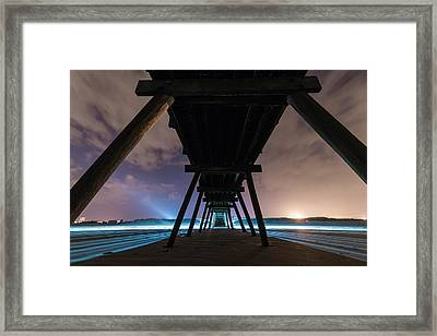 Looking Back Boardwalk Framed Print