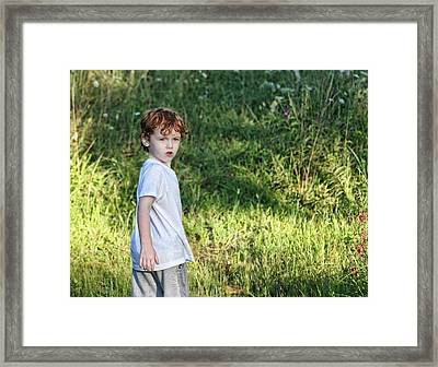 Framed Print featuring the photograph Looking Back by Denise Romano