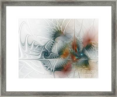 Framed Print featuring the digital art Looking Back by Karin Kuhlmann