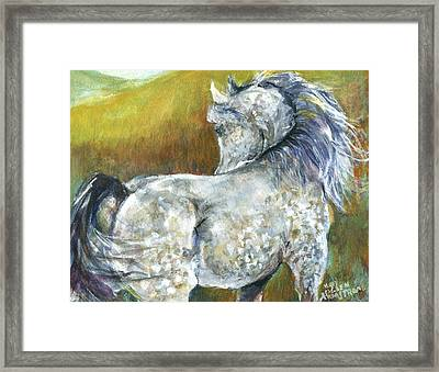Looking Back Framed Print by Mary Armstrong