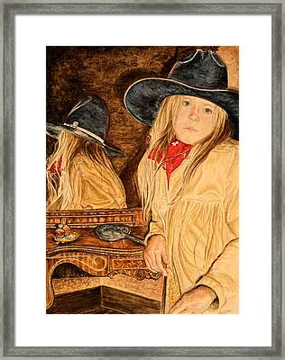 Looking Back Framed Print by Traci Goebel