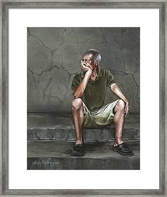 Looking Back Framed Print by Wendy Ballentyne