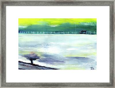 Framed Print featuring the painting Looking Beyond by Anil Nene