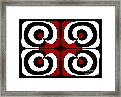 Looking Deeply Into Abstract Bliss Art By Omashte Framed Print by Omaste Witkowski