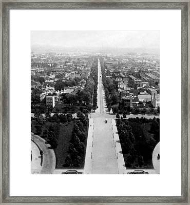 Looking Down East Capitol Street From The Dome Of Capitol Building - Washington Dc - C 1890 Framed Print by International  Images
