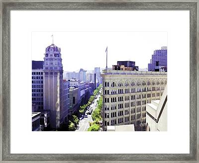 Looking Down Market Framed Print
