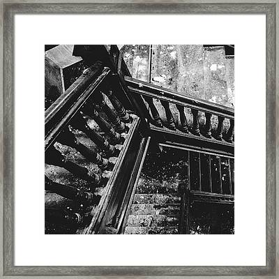 Looking Down Old Staircase Framed Print by Dylan Murphy