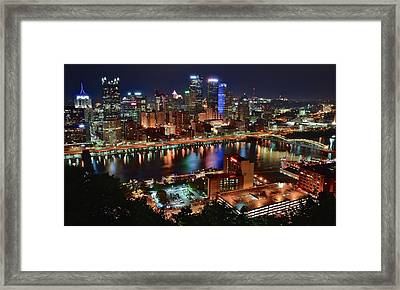 Looking Down On Pittsburgh Framed Print